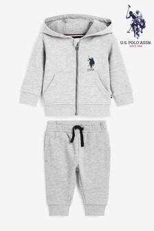 U.S. Polo Assn. Grey Sweat Set