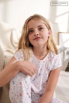 The White Company Multi Dense Floral Aop Lace Trim Pyjamas