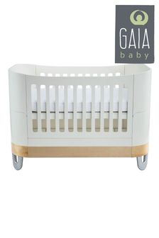 White/Natural Gaia Serena Complete Sleep Cot Bed By Gaia Baby