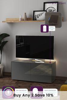 Frank Olsen Smart LED Grey Medium TV Cabinet