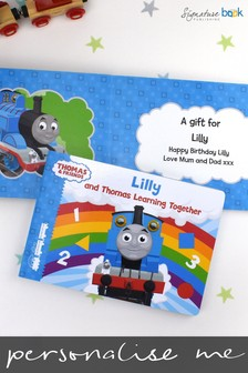 Personalised Thomas The Tank Engine Learning Book by Signature Book Publishing