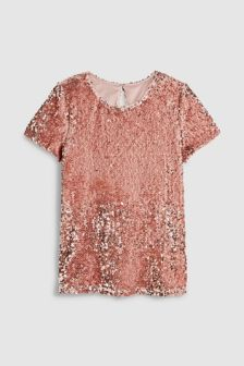 Blush  Sequin Tee