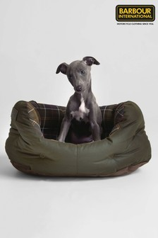 Barbour® Green Tartan Dog Bed