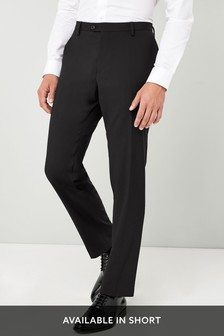 Black Tailored Fit Tuxedo Suit: Trousers