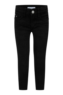 Calvin Klein Jeans Girls Black Skinny Stretch Jeans