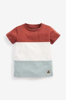 Rust/Blue Colourblock Jersey T-Shirt (3mths-7yrs)