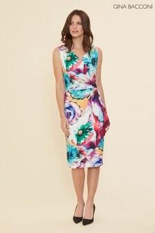 Gina Bacconi Islette Floral Wrap Dress