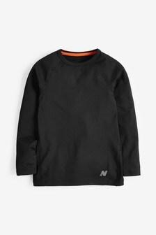 Black Brushed Long Sleeve Base Layer (3-16yrs)