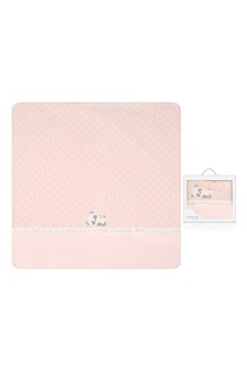 Baby Girls Pink Cotton Padded Blanket