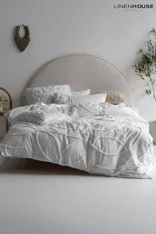 Linen House White Manisha Duvet Cover And Pillowcase Set