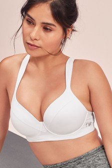 White High Impact Full Cup Underwired Sports Bra