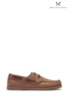 Crew Clothing Tan Austell Deck Shoes