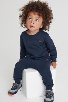 Navy Crew And Joggers Set (3mths-7yrs)