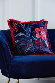 Posh Tropics Velvet Cushion