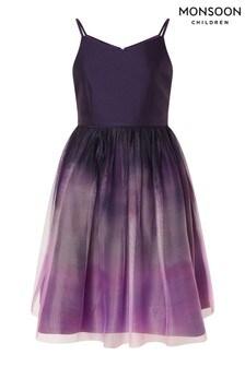 Monsoon Purple Ombre Skirt Prom Dress