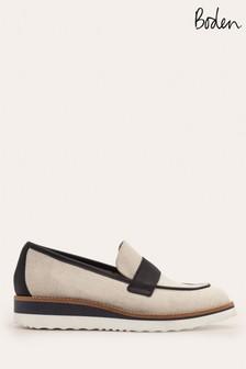 Boden Navy/Cream Betty Platform Loafers