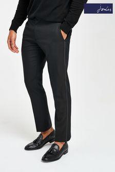 Black Joules Slim Fit Tuxedo Suit: Trousers