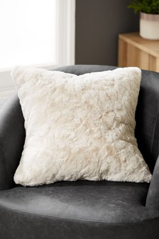 Textured Faux Fur Cushion