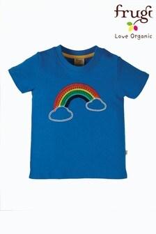 Frugi Blue Rainbow Organic Cotton T-Shirt