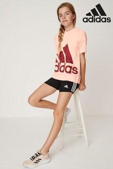 adidas Black 3 Stripe Woven Short