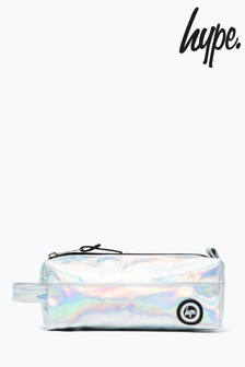 Hype. Silver Holographic Pencil Case