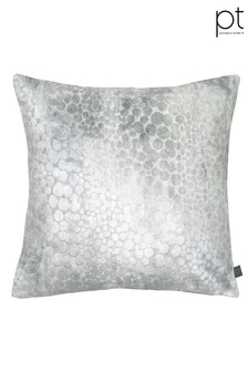 Monument Chrome Feather Cushion by Prestigious Textiles