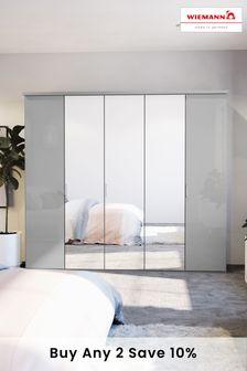 Glass Mirrored Peyton Grey Extra Large Hinged Wardrobe