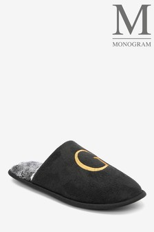 Black Large Monogram Mules