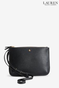 Lauren Ralph Lauren® Black Vegan Leather Carter Cross Body Bag