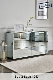 Mirror Sloane Collection Luxe 6 Drawer Wide Chest