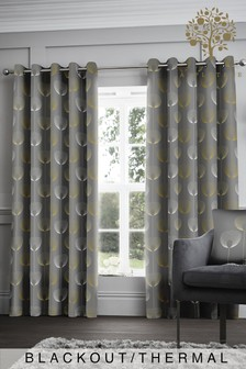Appletree Elba Geo Blackout/Thermal Eyelet Curtains