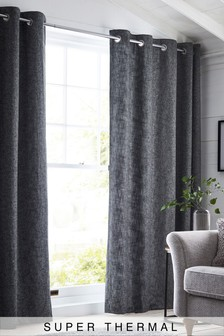 Bouclé Eyelet Super Thermal Curtains