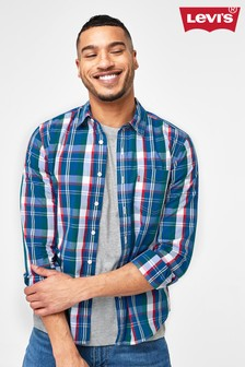 Levi's® Navy and Red Checked Shirt