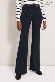 Damsel In A Dress Blue Osaki Button Trousers