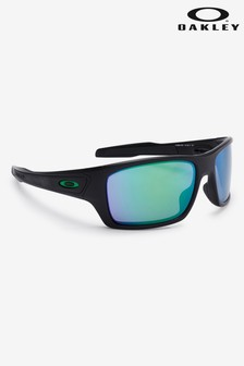 Oakley® Black/Green Turbine Sunglasses