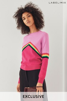Mix/Madeleine Thompson Rainbow Chevron Jumper