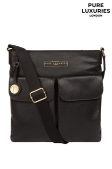 Pure Luxuries London Soames Leather Cross Body Bag