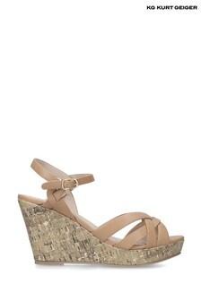 Kurt Geiger Camel Parisian Sandals