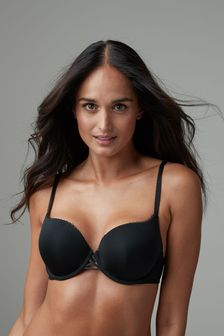 Black Push Up Triple Boost Microfibre Mimi Plunge Bra