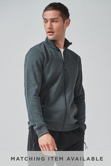 Charcoal Marl Zip Through Funnel