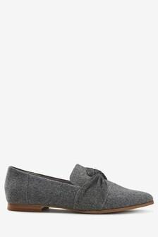 Grey  Twist Detail Loafers