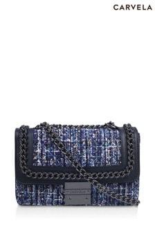 Carvela Blue Bailey Quilted Chain Shoulder Bag