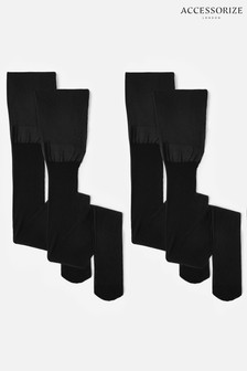 Accessorize 20 Denier Body Control Luxury Italian Tights 2 Pack