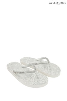 Accessorize Silver Embellished Sandals