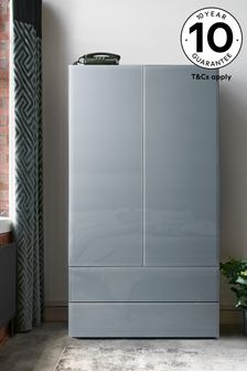 Grey Sloane Double Wardrobe