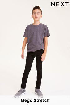 Black Super Skinny Fit Mega Stretch Jeans (3-16yrs)