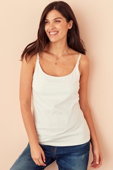 White Maternity Nursing Vest