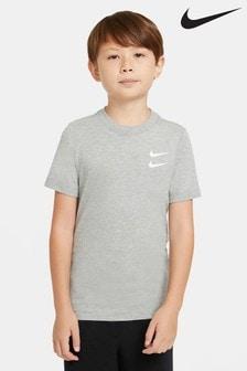 Nike Grey 2 Swoosh T-Shirt