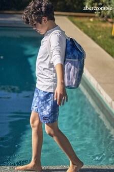 Abercrombie & Fitch Blue Tie Dye Swim Shorts