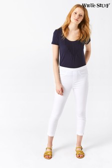 White Stuff White Jade Cropped Jeggings